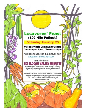 Locavore feast SATURDAY!
